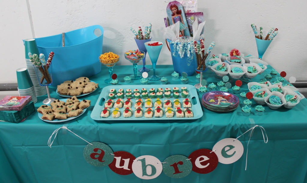 Ariel birthday party food ideas the for Ariel party decoration ideas