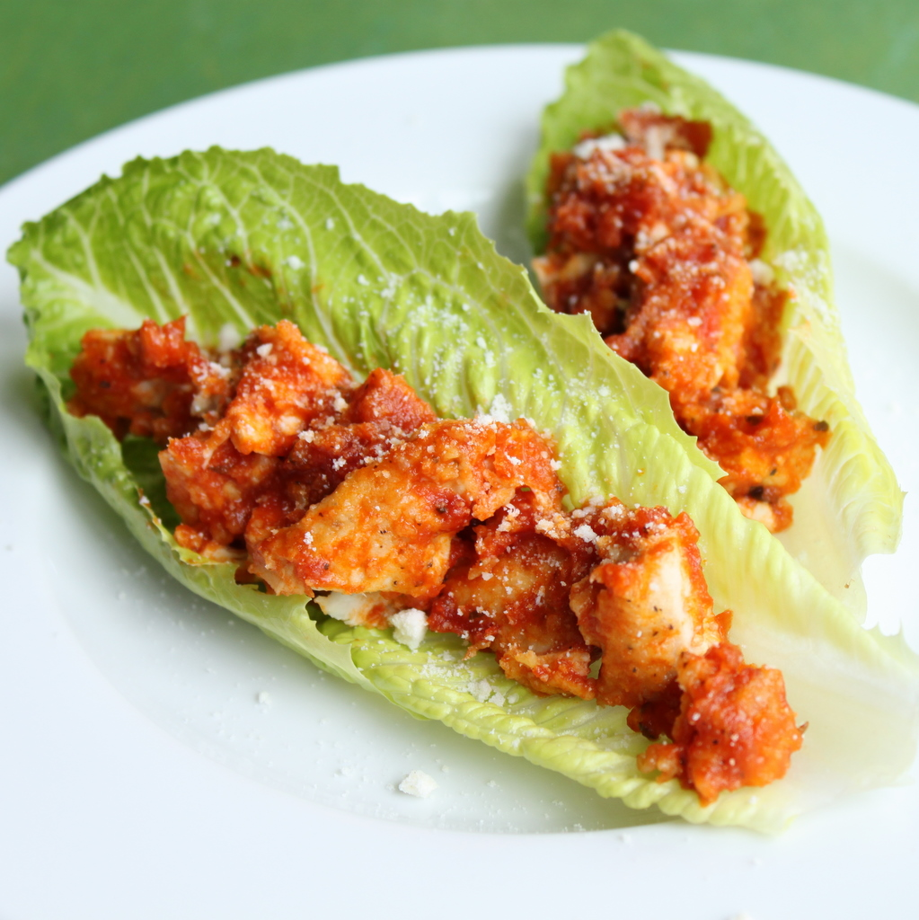 Chicken Parmigiana Lettuce Wraps | Itsy Bitsy Foodies