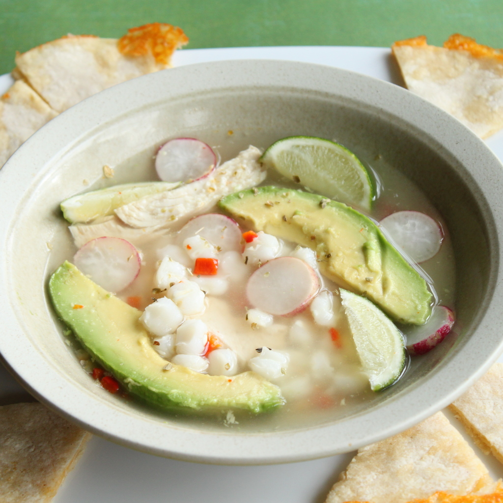 Chicken Pozole Blanco (Mexican Soup) | Itsy Bitsy Foodies