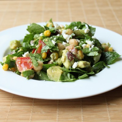 Chopped Spinach Avocado Salad