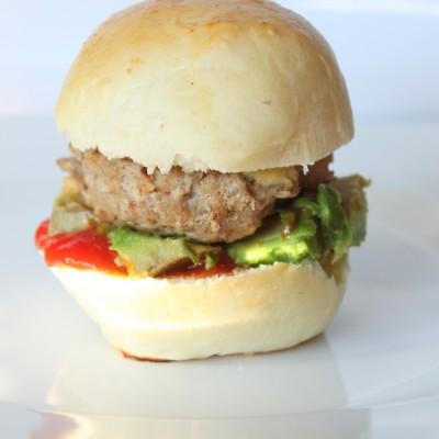 Turkey Burger Sliders with Homemade Buns