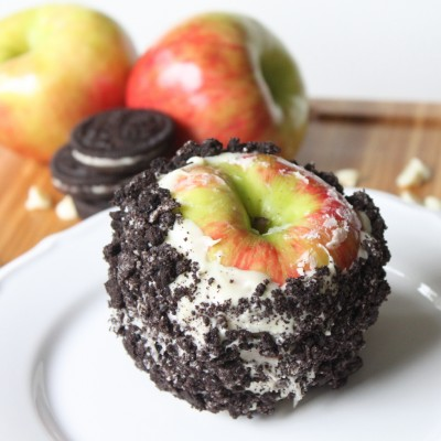 White Chocolate Oreo Candied Apples