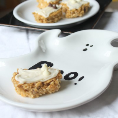 Pumpkin Oat Ghost Bars