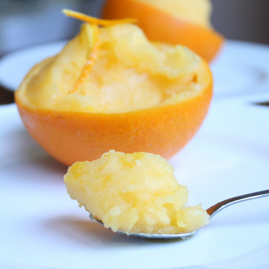 Orange Sorbet | Itsy Bitsy Foodies