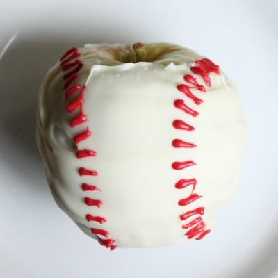 White Chocolate Apple Baseballs