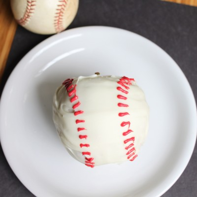 White Chocolate Apple Baseballs