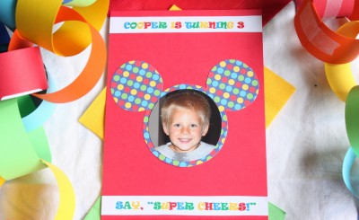 Mickey Mouse Clubhouse Birthday Party Invitation - Front