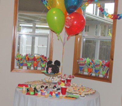 Mickey Mouse Clubhouse Dessert Table