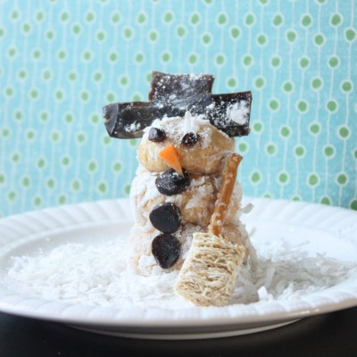Edible Art: Snowman Snack