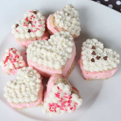 Mini Heart Ice Cream Cakes