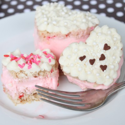 Mini Heart Ice Cream Cakes