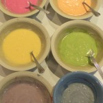 Rainbow Cake Batter with Natural Dyes