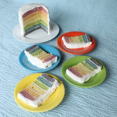 Rainbow Cake with Natural Dyes