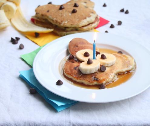 Chocolate Chip-Banana-Oatmeal Pancakes