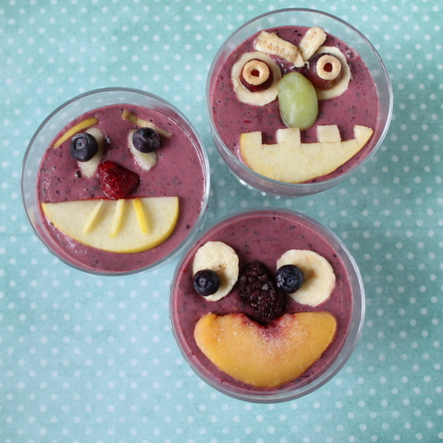 Silly Face Smoothies