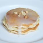 Banana Macadamia Nut Pancakes with Coconut Syrup