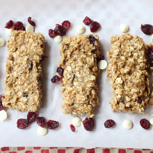 White Chocolate Craisin Oat Bars