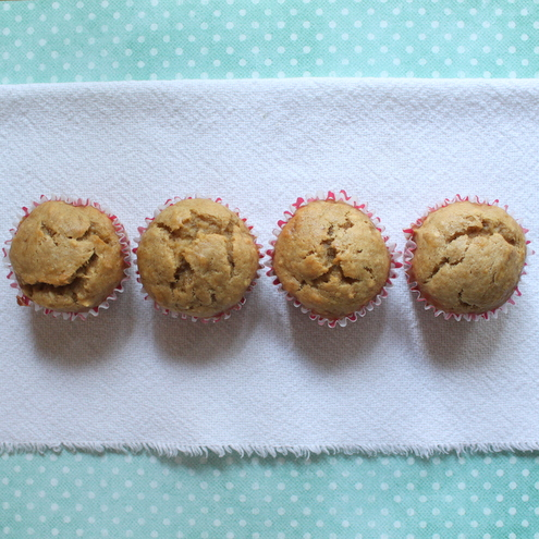 Peanut Butter Banana Muffins | Itsy Bitsy Foodies