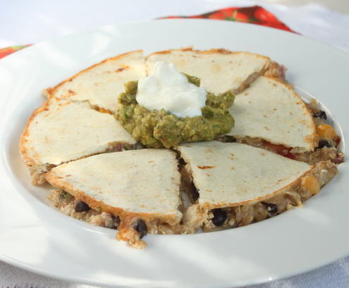 Chicken Quinoa Quesadilla