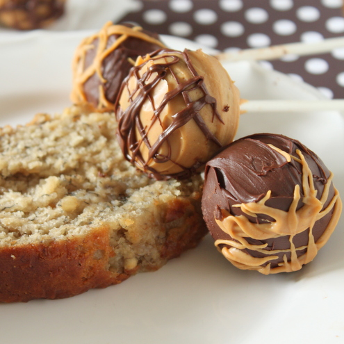 Peanut Butter Chocolate Banana Cake Pops