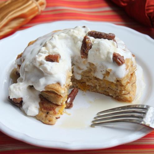 Pumpkin Pie Oatmeal Pancakes