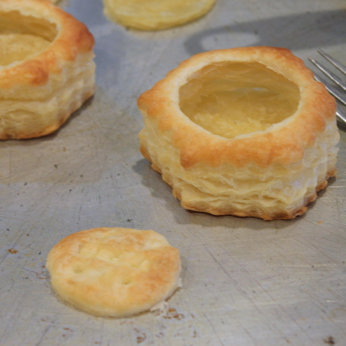 how to make puff pastry shells from sheets