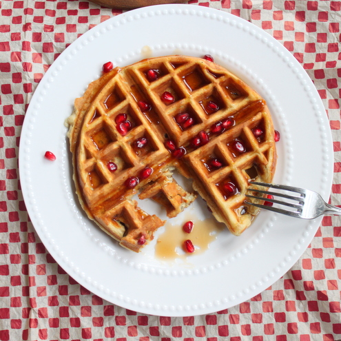 Better Oats Pomegranate Oatmeal Waffles