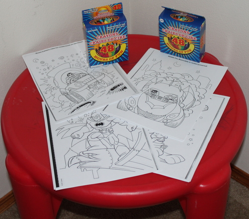 Super Hero Coloring Station