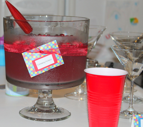 Cranberry PUNCH {or Super Mama-tinis}