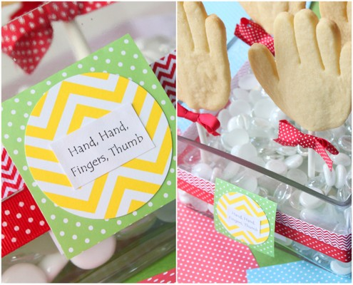 Hand Sugar Cookie Pops