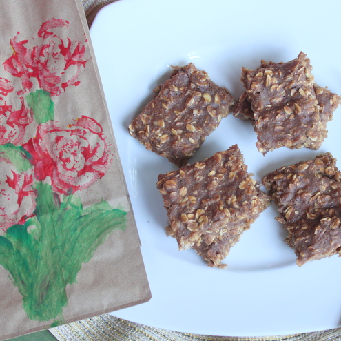 Healthy Chocolate Banana Oat Cookies