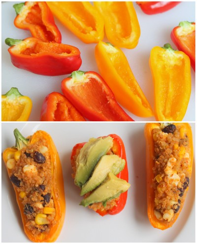 Quinoa Taco Salad Stuffed Peppers