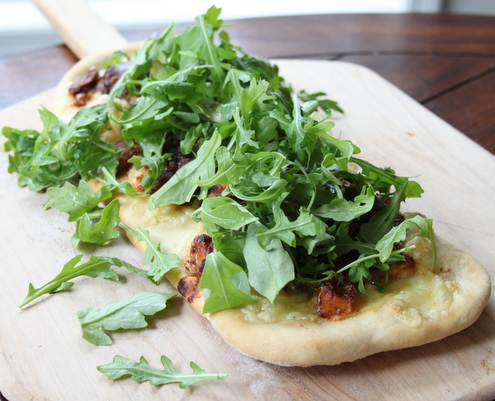Three Cheese BBQ Chicken Flat Bread