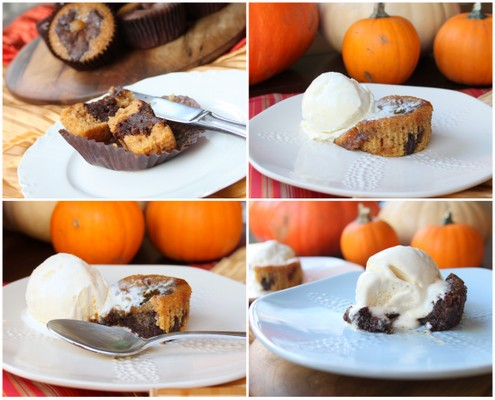 Salted Caramel Pumpkin Chocolate Brownies