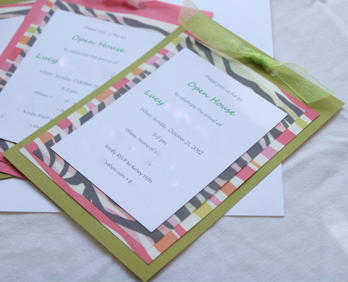 Jungle Baby Girl Shower Invitations