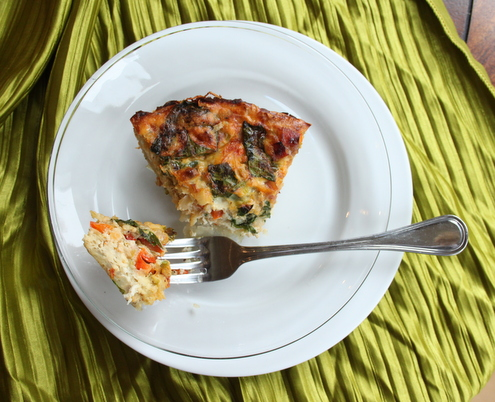 Prosciutto di Parma & Veggie Quiche with Potato Crust