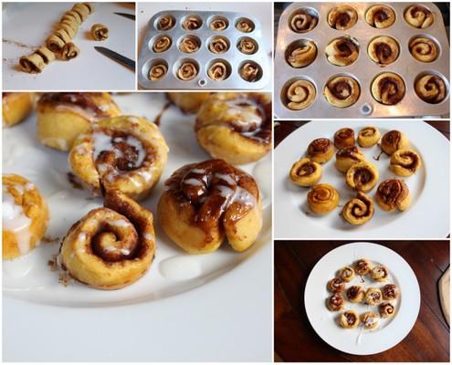 Mini Pumpkin Cinnamon Rolls | Itsy Bitsy Foodies