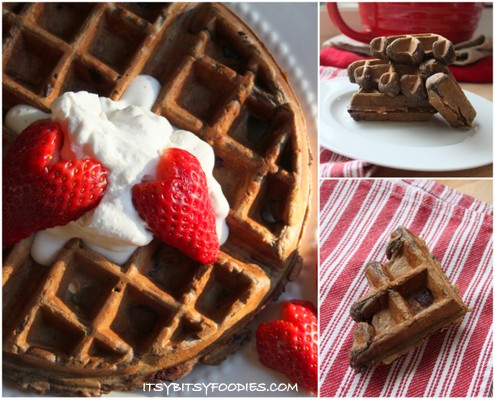 Chocolate Oatmeal Waffles