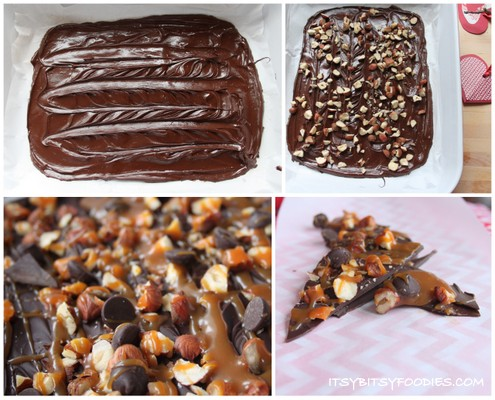 Salted Caramel Hazelnut Chocolate Bark