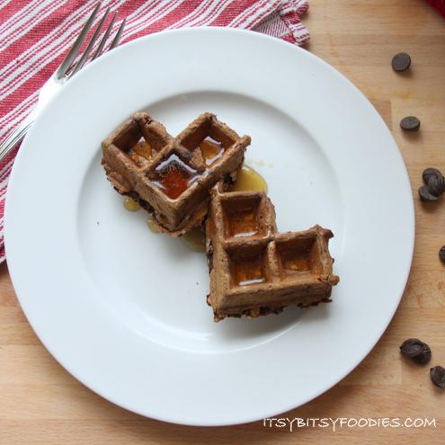 Chocolate Oatmeal Waffle Hearts