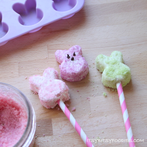 Homemade Marshmallows with Naturally-Dyed Sugar Sprinkles