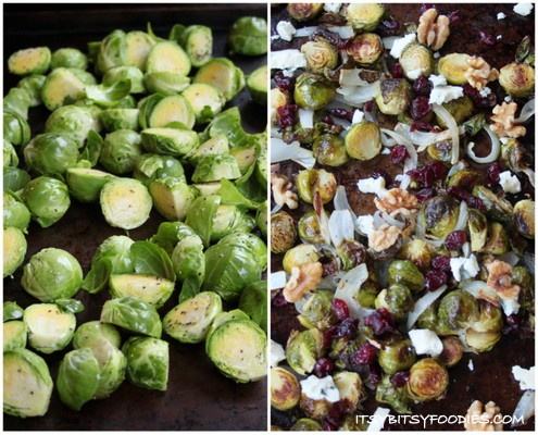 Roasted Brussels Sprouts & Caramelized Onions | Itsy Bitsy Foodies