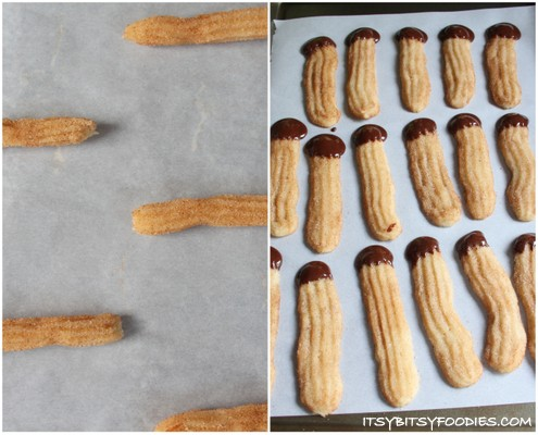 Churros Cookies Con Chocolate