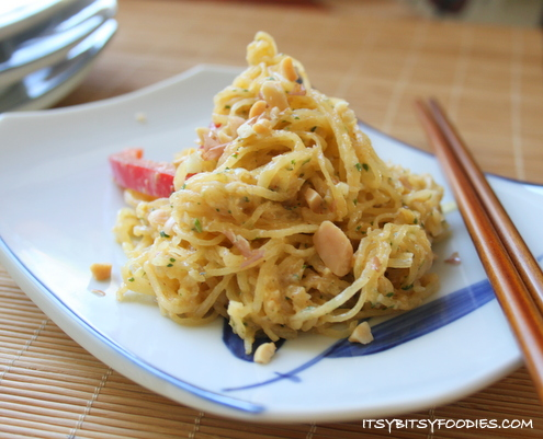 Spaghetti Squash with Thai Peanut Dressing