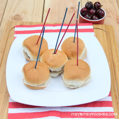 4th of July Sparkler Burgers