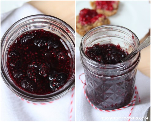 Berry Chia Seed Freezer Jam