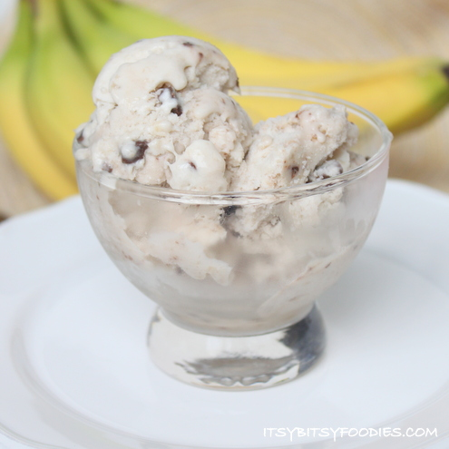 {Chunky Monkey} Banana Ice Cream