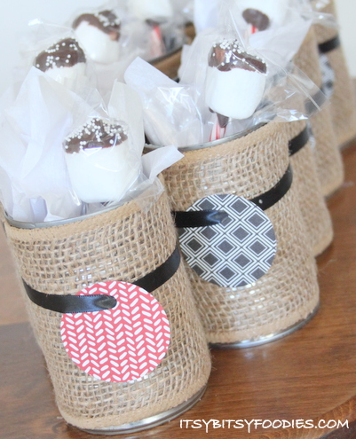 Party Favors: Hot Cocoa Mix with Marshmallow Stir Sticks
